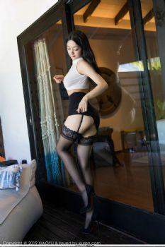 女神Angela喜欢猫 印花蕾丝芊芊美腿